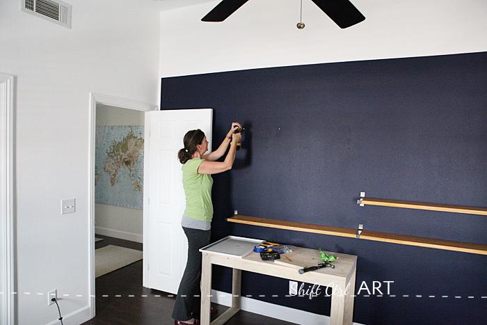 DIY shelves using IKEA Ekby Bjrnum brackets  and a