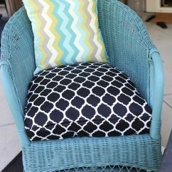 Diy Outdoor Chair Cushion Covers Folding Kinematic Diagram How To: Sew A Half-round Seat Cover - For My Wicker Chairs