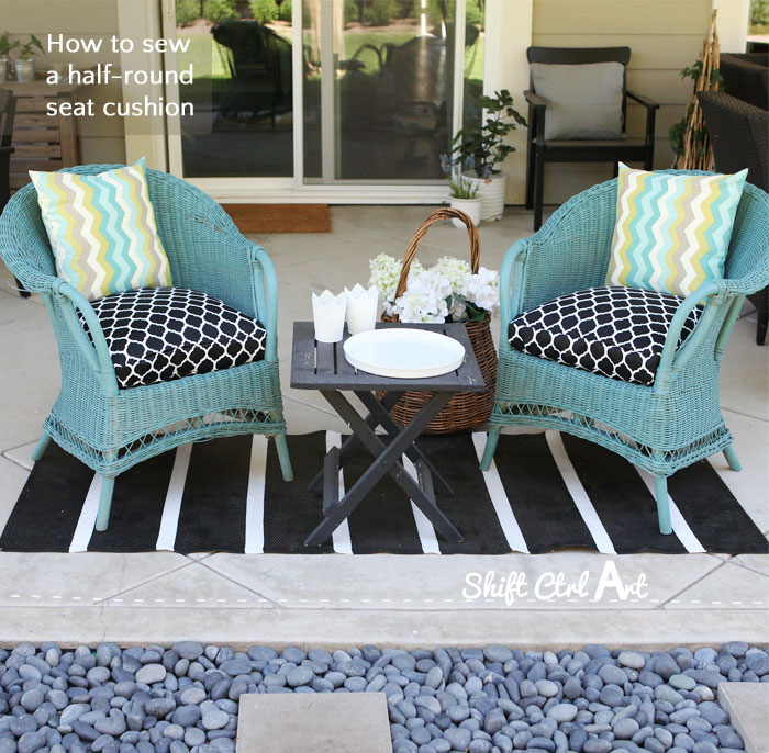 diy outdoor chair cushion covers gold ebay how to: sew a half-round seat cover - for my wicker chairs