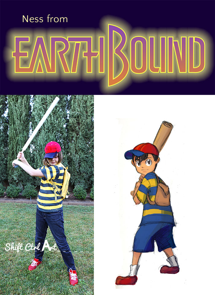 Halloween costume  Ness from Earthbound  thrifted and