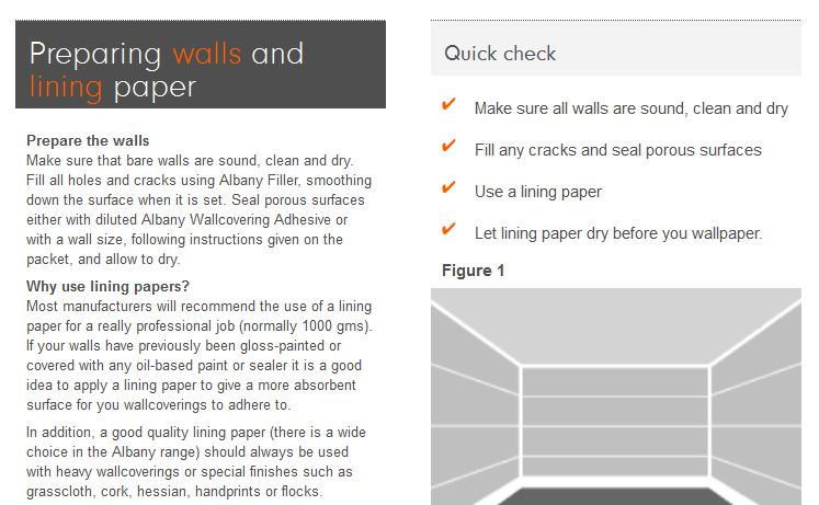 How To Apply Wallpaper Lining Using Wall Size Adhesive