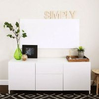 Home office make-over - the whiteboard wall - reveal