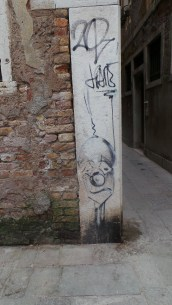 Sad Bald Clown, seen in Venice