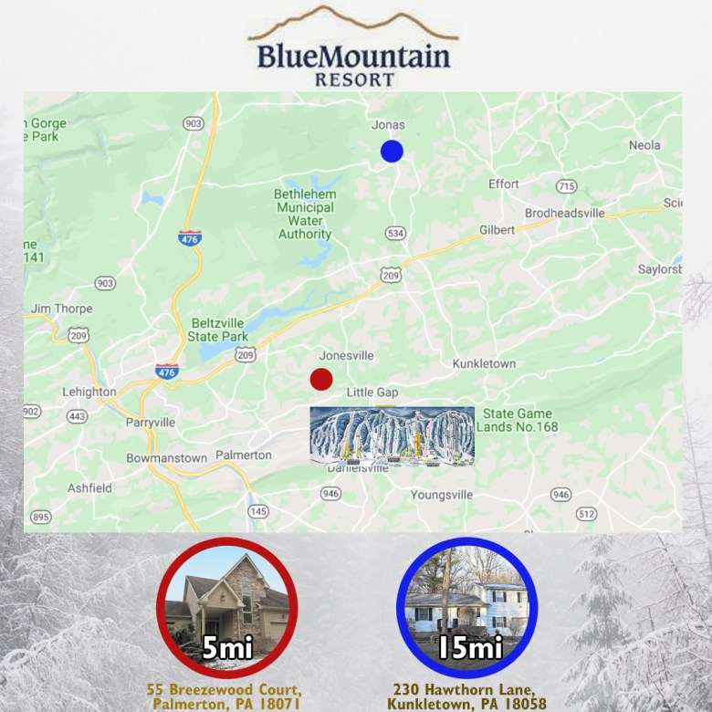Blue Mountain Map Layout