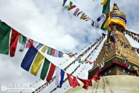 Colored Prayer Flags in Nepal