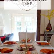Simple Gold Thanksgiving Table