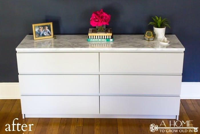 How to Makeover Your Ikea Malm Dresser with a Marble Top  A Home To Grow Old In