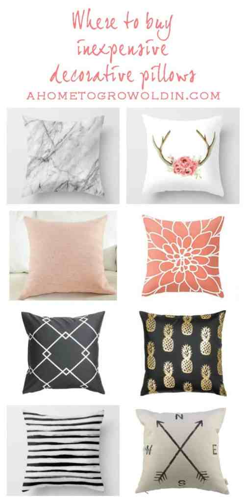 You won't believe where some of these pillows are from! And for less than $3! Wow! I'm pinning this so I won't forget about it later!