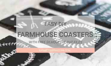 DIY Farmhouse Style Coasters