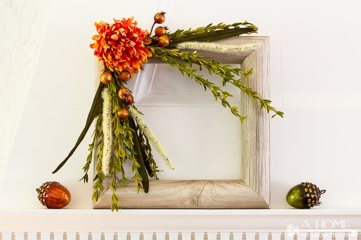 Here's a great tutorial on how to make a square shaped fall wreath using a pool noodle and contact paper! This easy DIY will look great with your fall decorations!