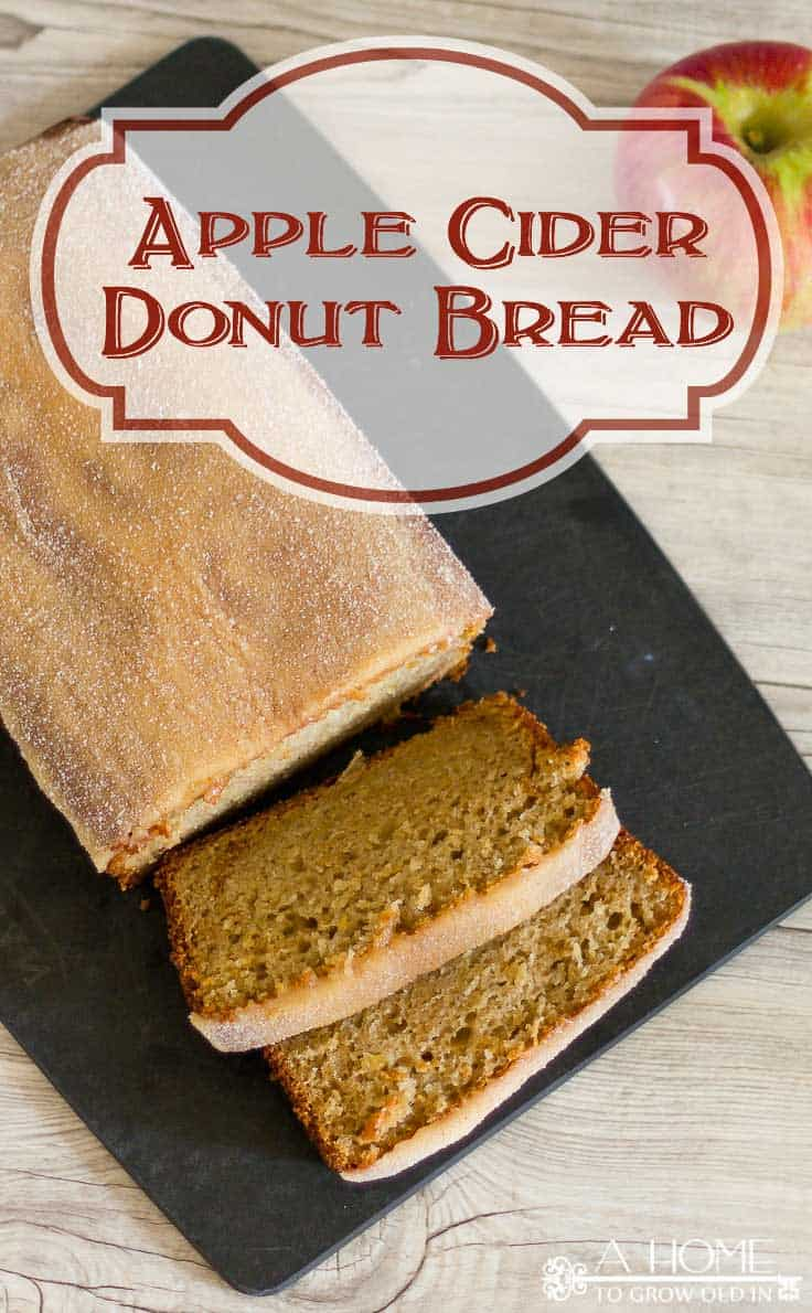 This apple cider donut bread recipe is a simple twist on a New England fall classic. Make it in advance to serve to a crowd and it will be gone in seconds!