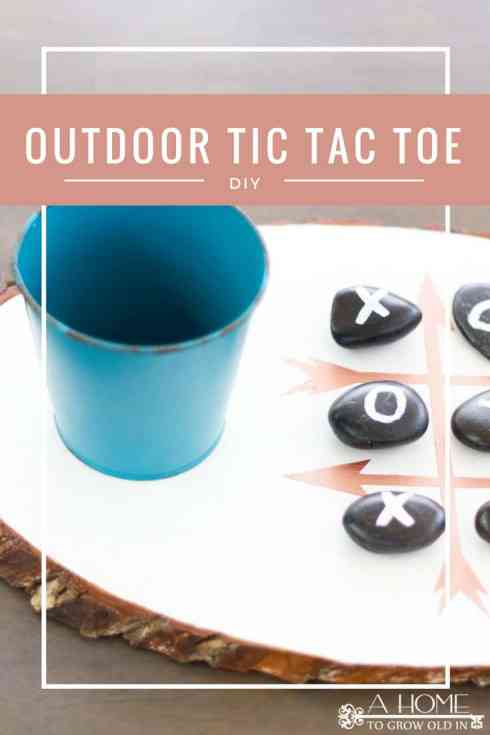 This easy to make tic tac toe game is perfect if you love outdoor entertaining!