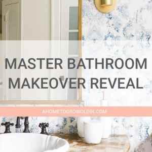 Modern Master Bathroom Makeover Reveal