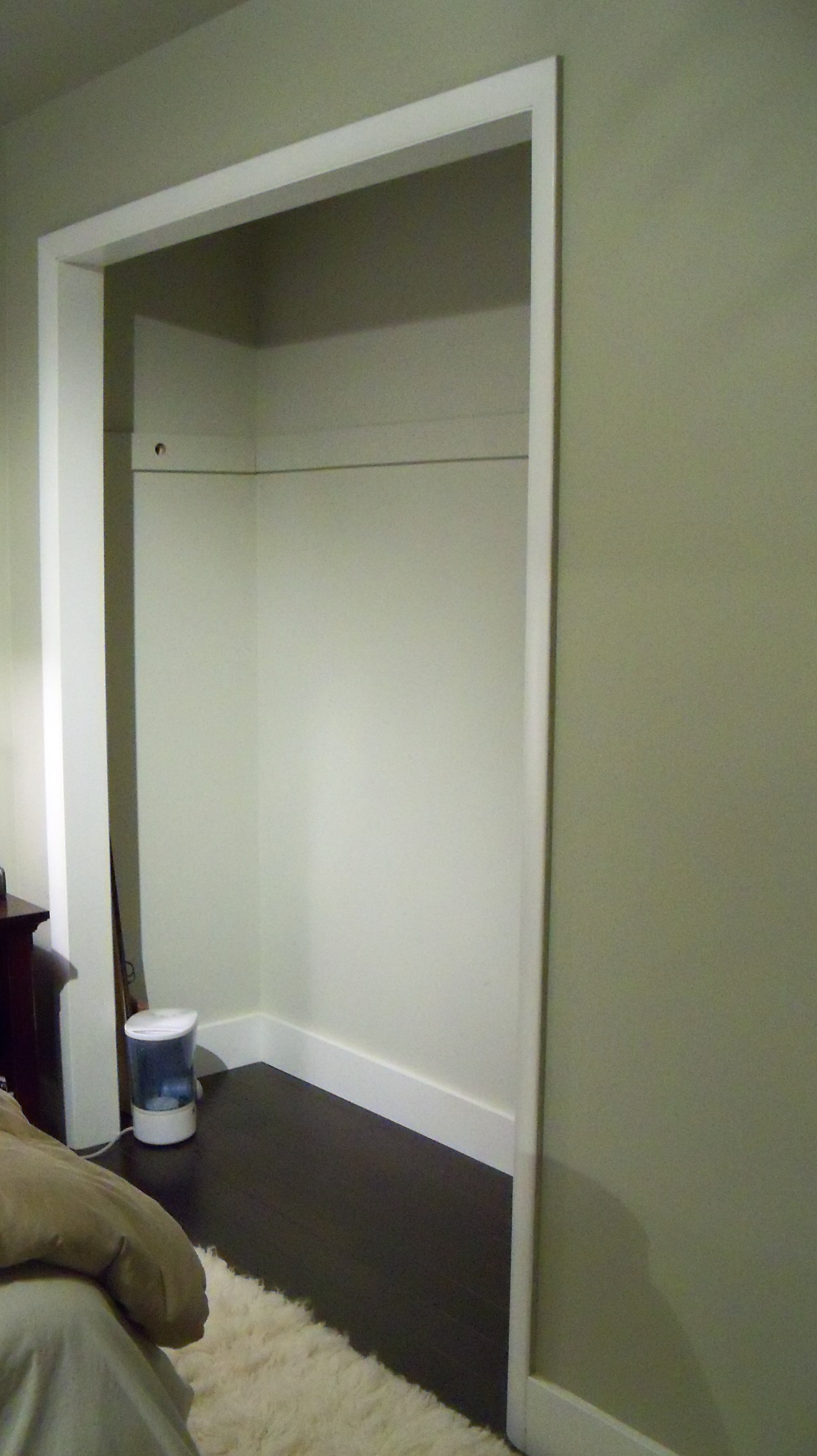 Down With Closet Doors Up With Curtains A Home West