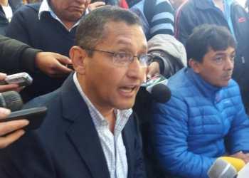 Otros tiempos: El ex Alcalde Oscar Montes junto al Ministro Víctor Hugo Zamora.