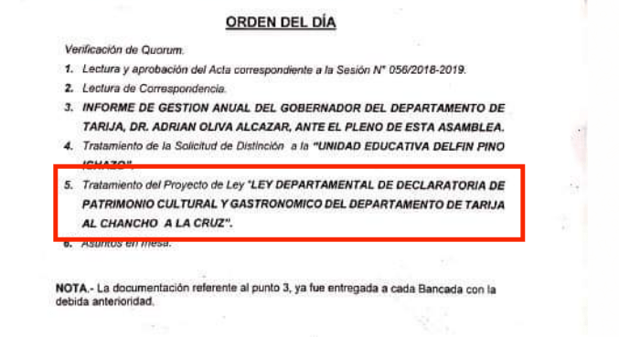 """Tarija: Tras informe de gestión de Oliva, la Asamblea Departamental más cara de Bolivia hace espacio en su agenda para debatir la """"Ley del Chancho a la Cruz"""""""