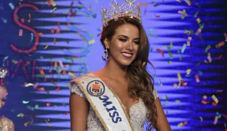 Natalia Paz se corona como Miss Cochabamba 2019
