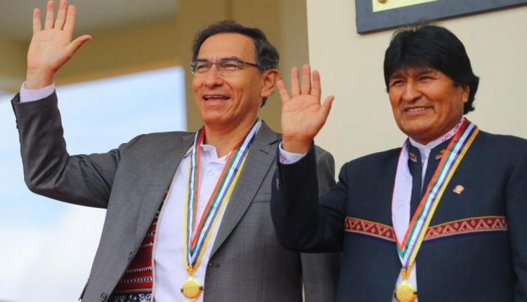Evo Morales y Martín Vizcarra. (Perú21)