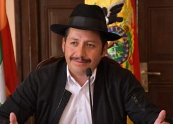 El gobernador de Chuquisaca, Esteban Urquizo