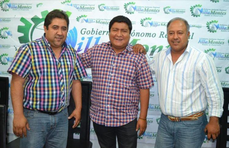 Ejecutivos del Gran Chaco, Ruiz, Quecaña y Torrez. Crédito foto: El Gran Chaco