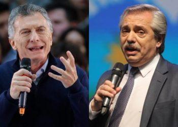 Mauricio Macri y Alberto Fernández