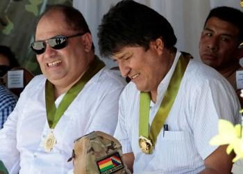 Carlos Romero y Evo Morales. Foto archivo.