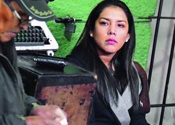 Patricia Hermosa el día que fue aprehendida en celdas de la Felcc, en enero. / Foto: Página Siete
