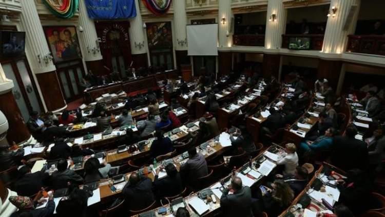 La comisión mixta de diputados y senadores de la Asamblea Legislativa Plurinacional. Foto: EFE