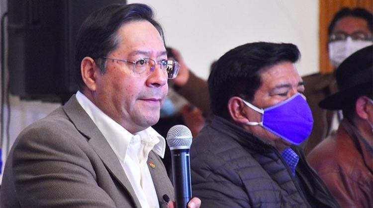 Luis Arce. Candidato a presidente MAS