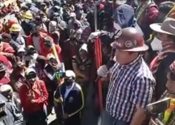 Marcha protagonizada por la COB el pasado 28 de julio