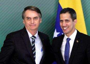 Juan Guaido junto al presidente brasileño Jair Bolsonaro. REUTERS/Ueslei Marcelino.jpg
