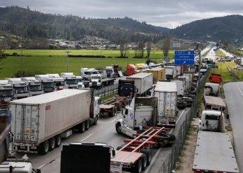 Foto: Camioneros chilenos en huelga (REUTERS)