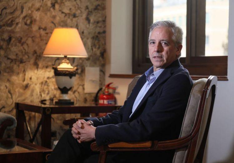 Dvd 991 3/3/20 Alvaro García Linera, ex-vicepresidente del gobierno de Bolivia, durante la entrevista concedida en un hotel madrileño. KIKE PARA.
