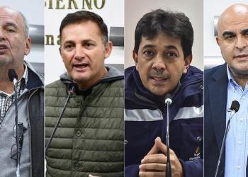 Los exministros Murillo, López, Zamora y el viceministro Issa, que ahora son procesados. | AGENCIAS