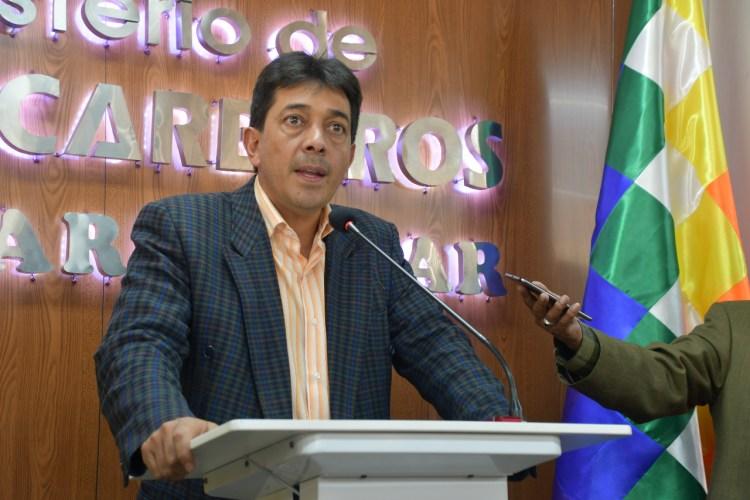 El exministro de Hidrocarburos, Víctor Hugo Zamora