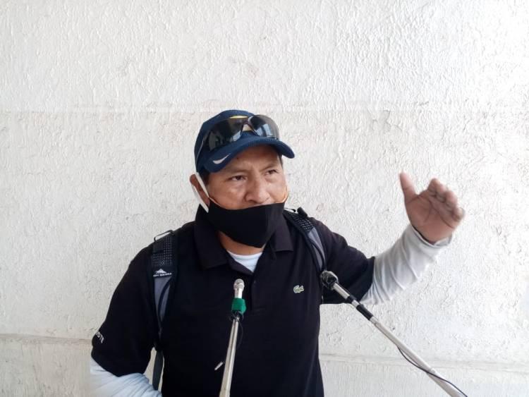 Juan Carlos Llanque,  presidente de los bagalleros