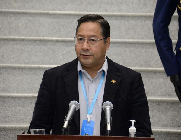 El presidente Luis Arce Catacora. Foto archivo.
