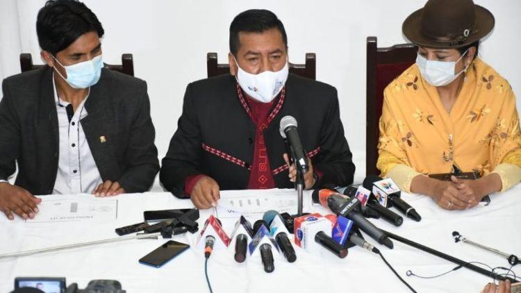 Conferencia de prensa de diputados del MAS. Foto: Prensa Diputados