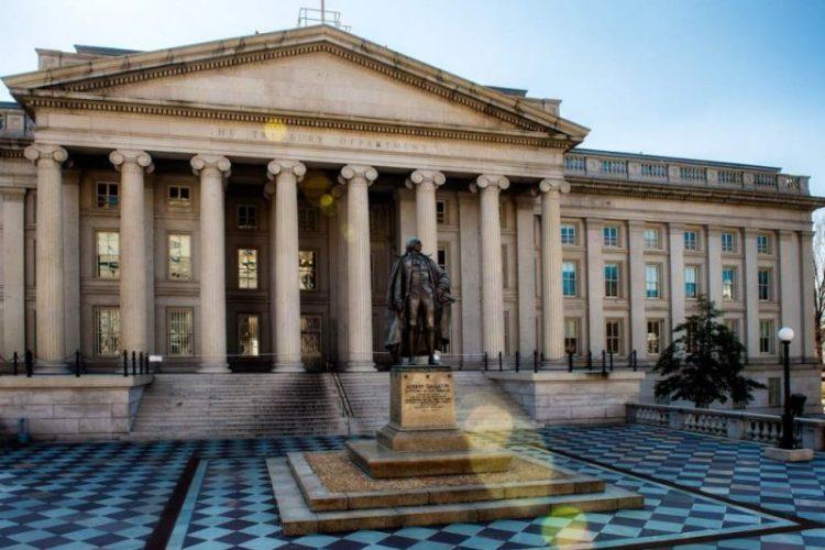 La sede del Departamento del Tesoro de Estados Unidos en Washington DC, EEUU