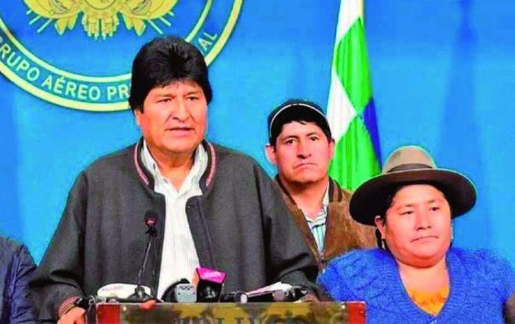 Evo Morales, la mañana del 10 de noviembre, unas horas antes de renunciar a la Presidencia