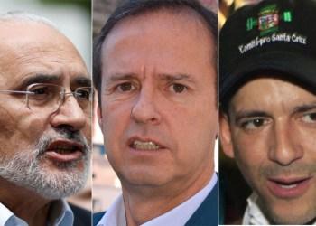 Carlos Mesa, Tuto Quiroga y Fernando Camacho