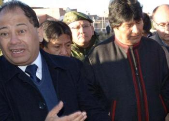 El exministro de Gobierno Carlos Romero y al expresidente Evo Morales. | Foto archivo | AFP