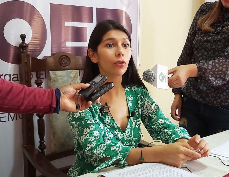 La presidenta del Tribunal Departamental Electoral, (TED) Nataly Vargas