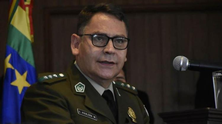 El comandante general de la Policía, Jhonny Aguilera. | Foto archivo | APG