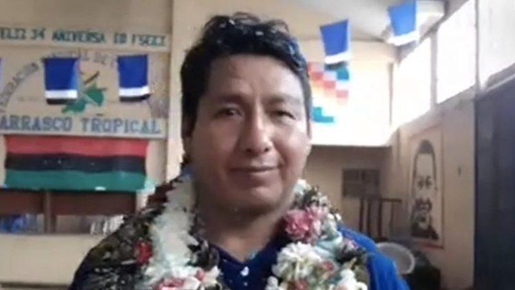 El alcalde de Puerto Villarroel, Limber Cossío