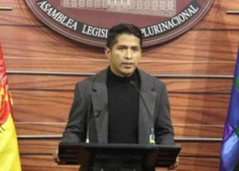 El presidente de la Cámara de Senadores, Andrónico Rodríguez.   Senadores Bolivia