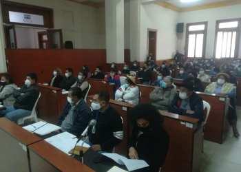 El hemiciclo de la Asamblea Legislativa Departamental de Tarija.