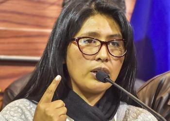 La alcaldesa de El Alto, Eva Copa.