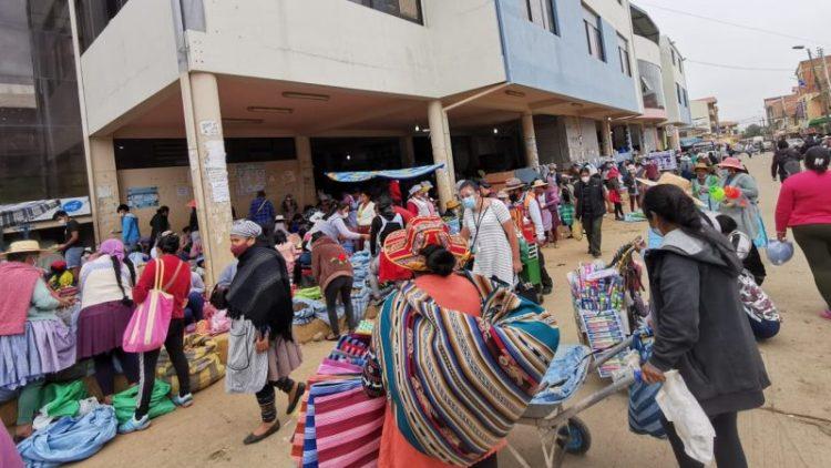 Una imagen de cómo está el mercado de Sacaba. Mariela Cossío