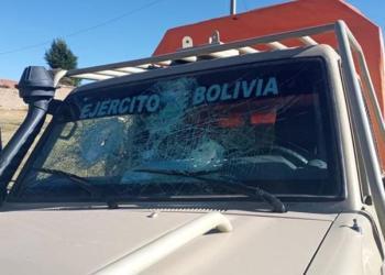 Uno de los vehículos afectados. | Ministerio de Defensa